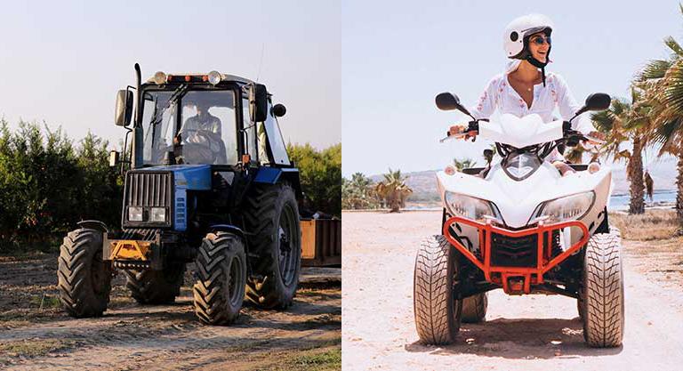 трактор и квадроцикл